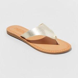 Mad Love Vada Gold Flip Flop Sandal